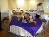 Parish Hall set for dinner