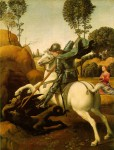 St George and the Dragon by Raphael