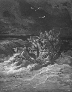 Jesus Stilling the Tempest, by Gustave Doré
