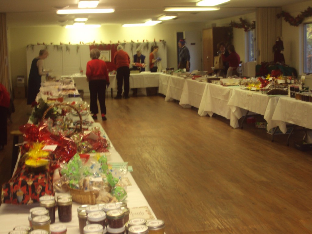 Last minute preparations in the Parish Hall