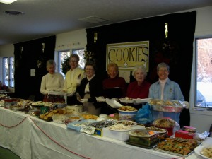 A sampling of the varieties of cookies at a recent Cookie Walk