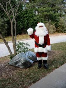 Santa visits the Cookie Walk at St Stephen's