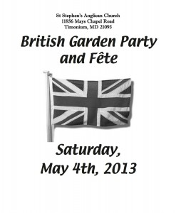 Garden Party Programme 2013 Cover