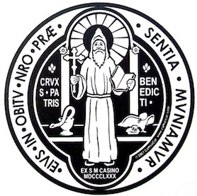 St Benedict medal (front)