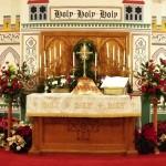 altar on christmas eve