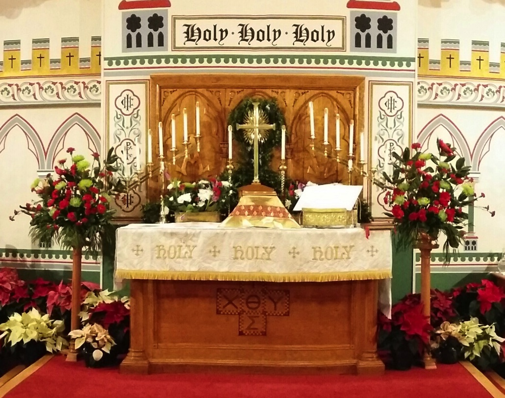 altar on christmas eve
