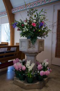 font at Easter