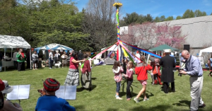 Maypole in Progress