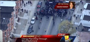 Clergy marching through West Baltimore