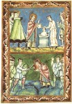 St Boniface baptising and being Martyred