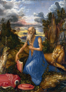 Jerome in the Wilderness Albrecht_Dürer