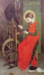 Marianne Stokes St Elizabeth of Hungary Spinning for the Poor