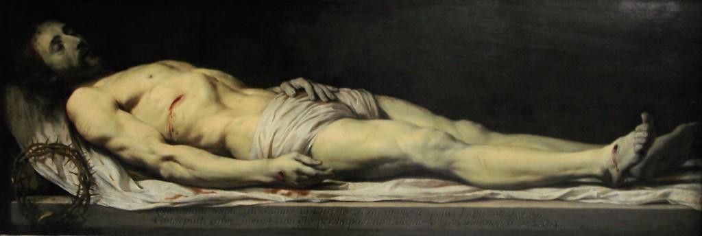 Le Christ mort couché sur son linceul