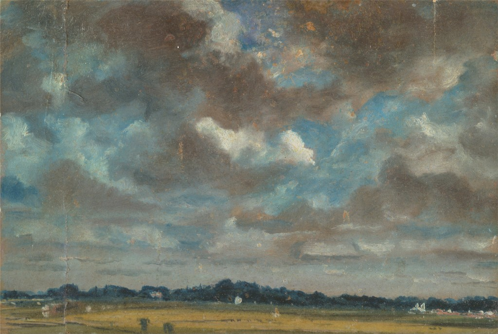 John Constable Extensive Landscape with Grey Clouds