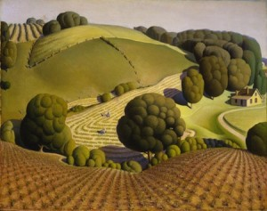Grant Wood Young Corn