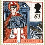 Augustine stamp with cathedral