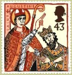 Augustine stamp with Ethelbert