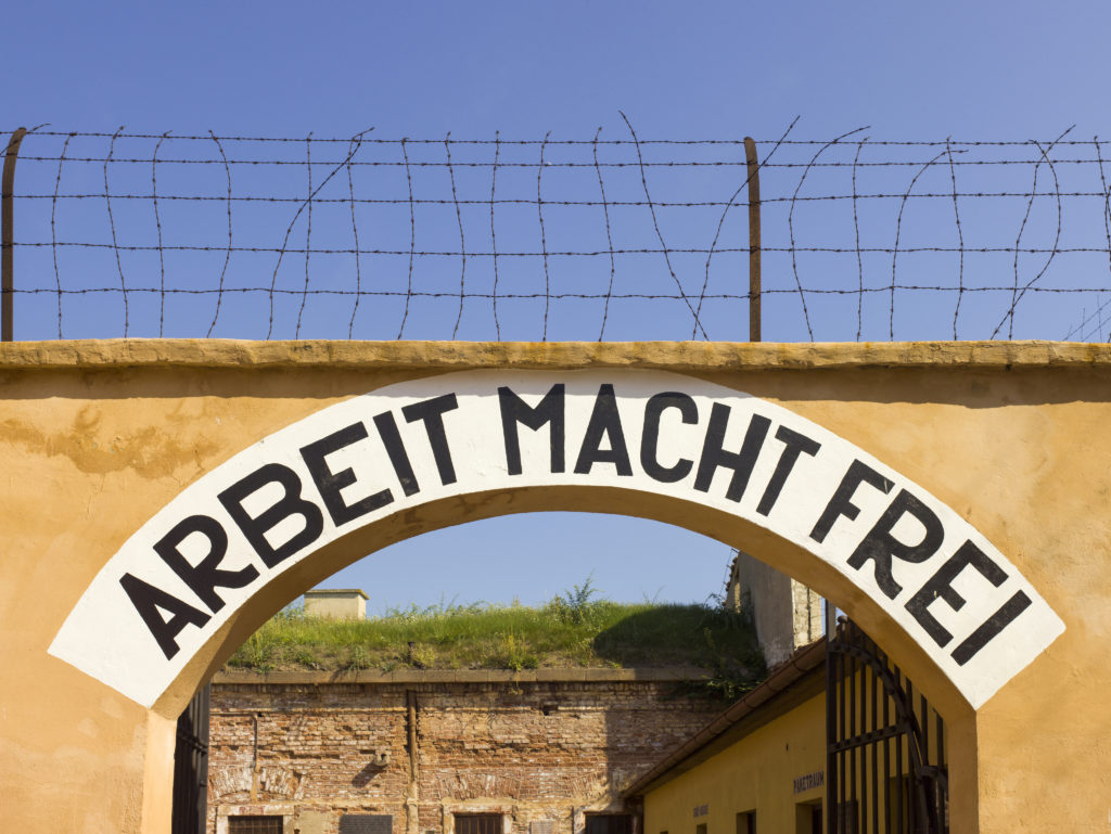 Theresienstadt concentration camp archway