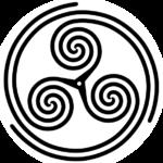 Triskelion spiral