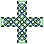 color celtic cross knot