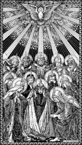 Pentecost woodcut