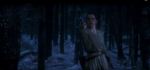 Rey takes Luke Skywalker's light sabre from Kylo Ren