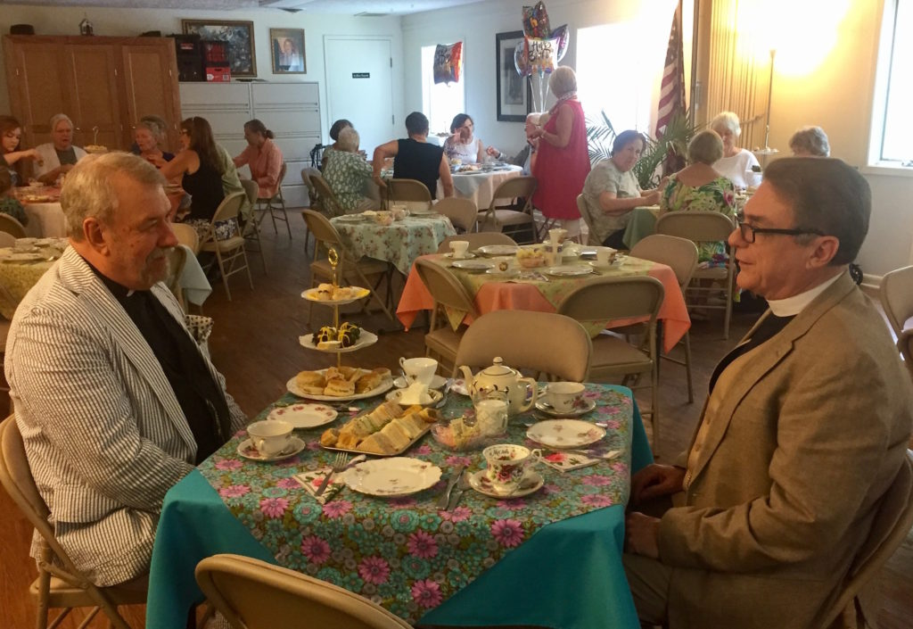 Frs Hawtin and Ludwig at Tea