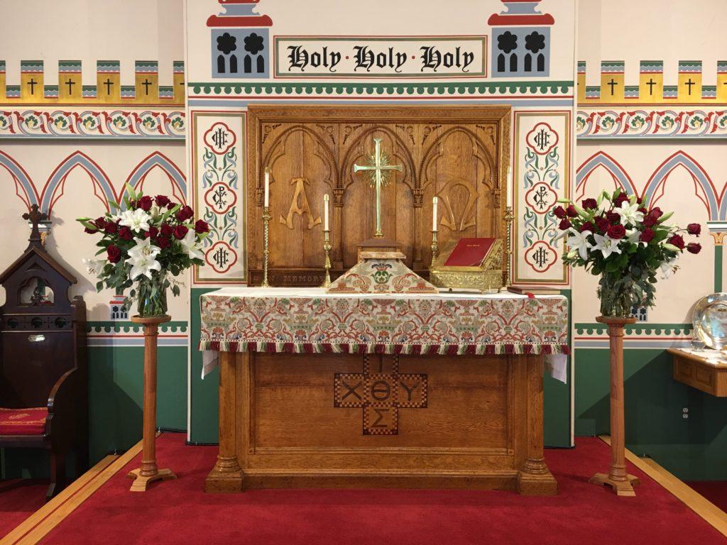 Altar Flowers — Trinity XVI, 2017 (Michaelmas Sunday)