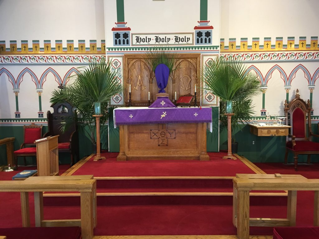 Palm Sunday altar 2018