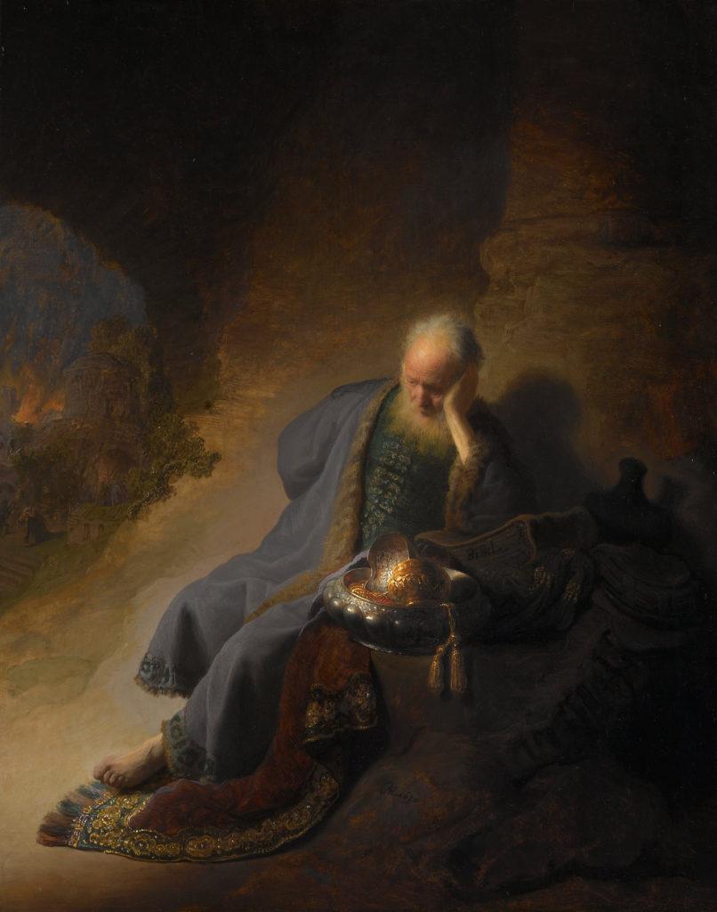 Rembrandt Harmensz. van Rijn -Jeremia treurend over de verwoesting van Jeruzalem