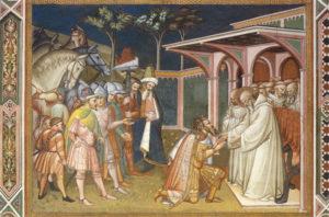 Totila e San Benedetto