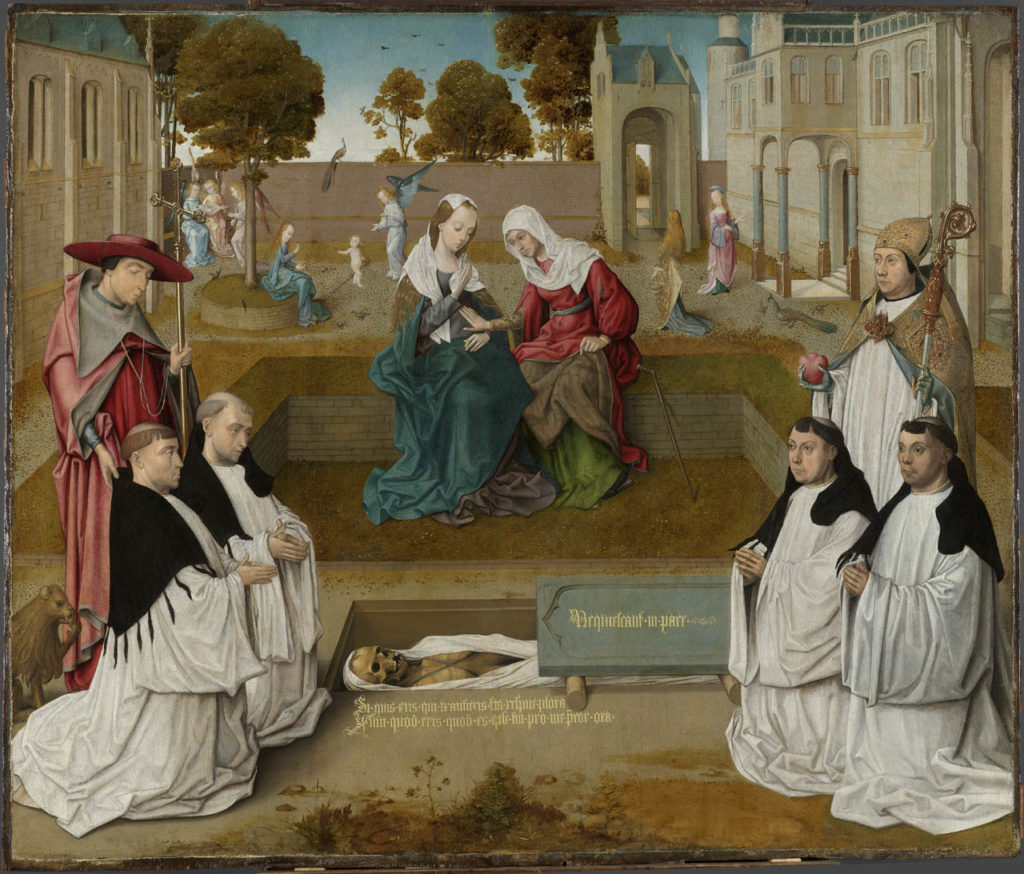 The Visitation (Four Augustinian Canon Regulars Meditating Beside an Open Grave)