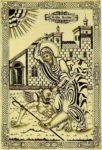 St Marina the Martyr hammering a devil