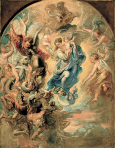 Rubens woman of apocalypse