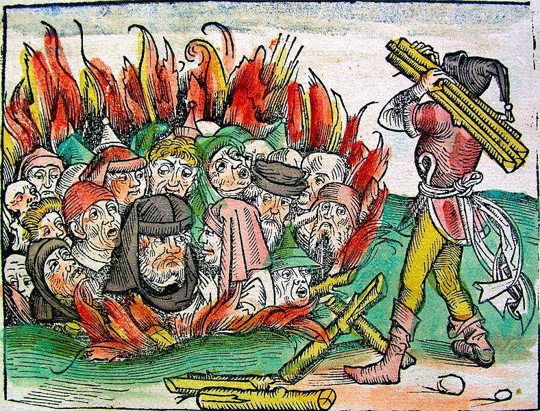 Jews burned alive