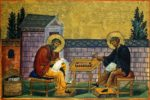 St John of Damascus with his foster brother St Kosmas