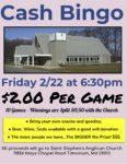 Bingo on Friday, 22 February, at 6:30 PM