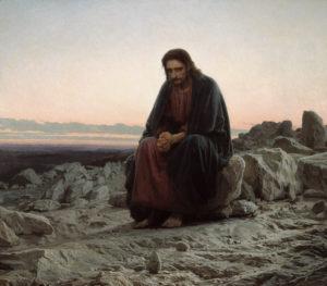 Christ in the Wilderness by Ivan Kramskoy