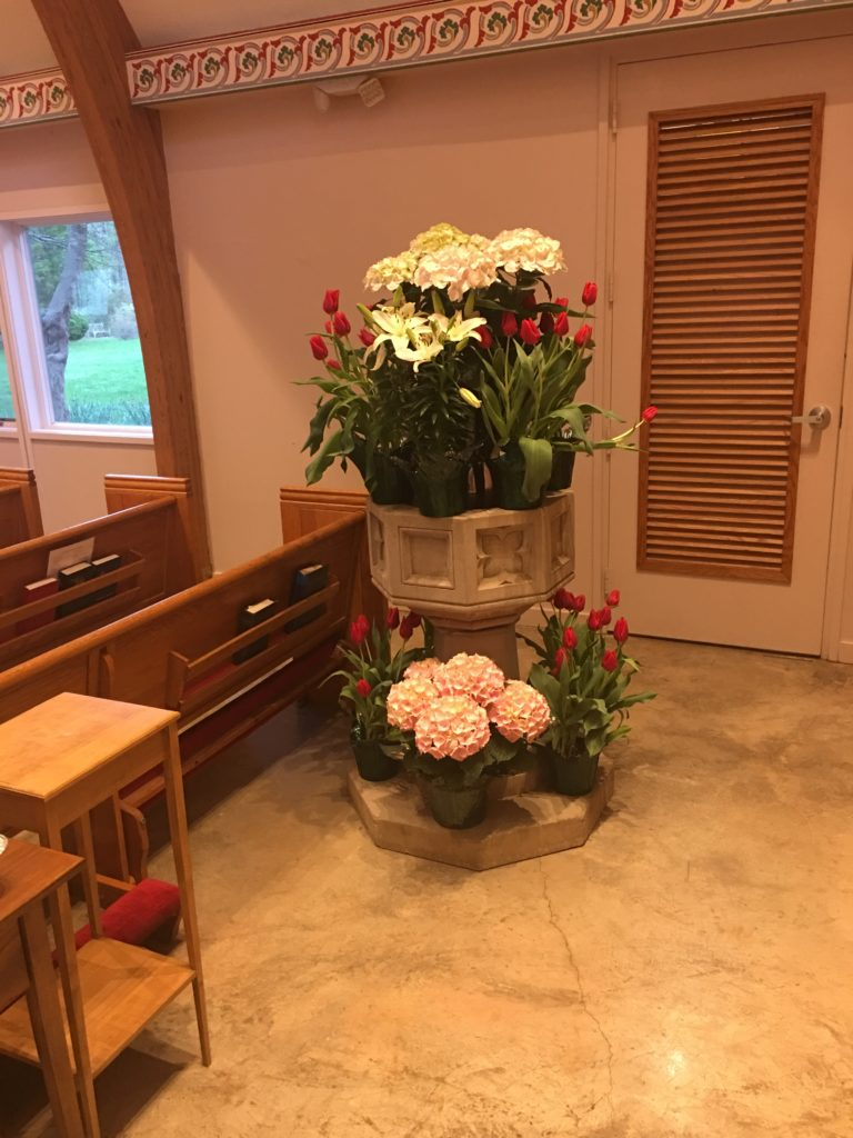 The Baptismal Font, Easter 2019