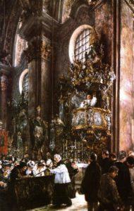 Adolph von Menzel Sermon in the Parish Church in Innsbruck