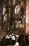 Adolph von Menzel Sermon in the Parish Church in Innsbruck