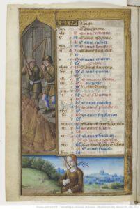 August from Les Petites Heures d'Anne de Bretagne