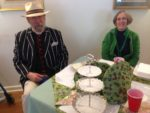Charlotte Hawtin and her husband at Afternoon Tea, at the 2014 Garden Party