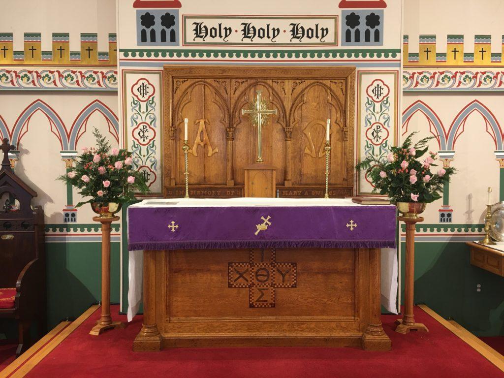 Altar Flowers — Gaudete Sunday, 15 December 2019